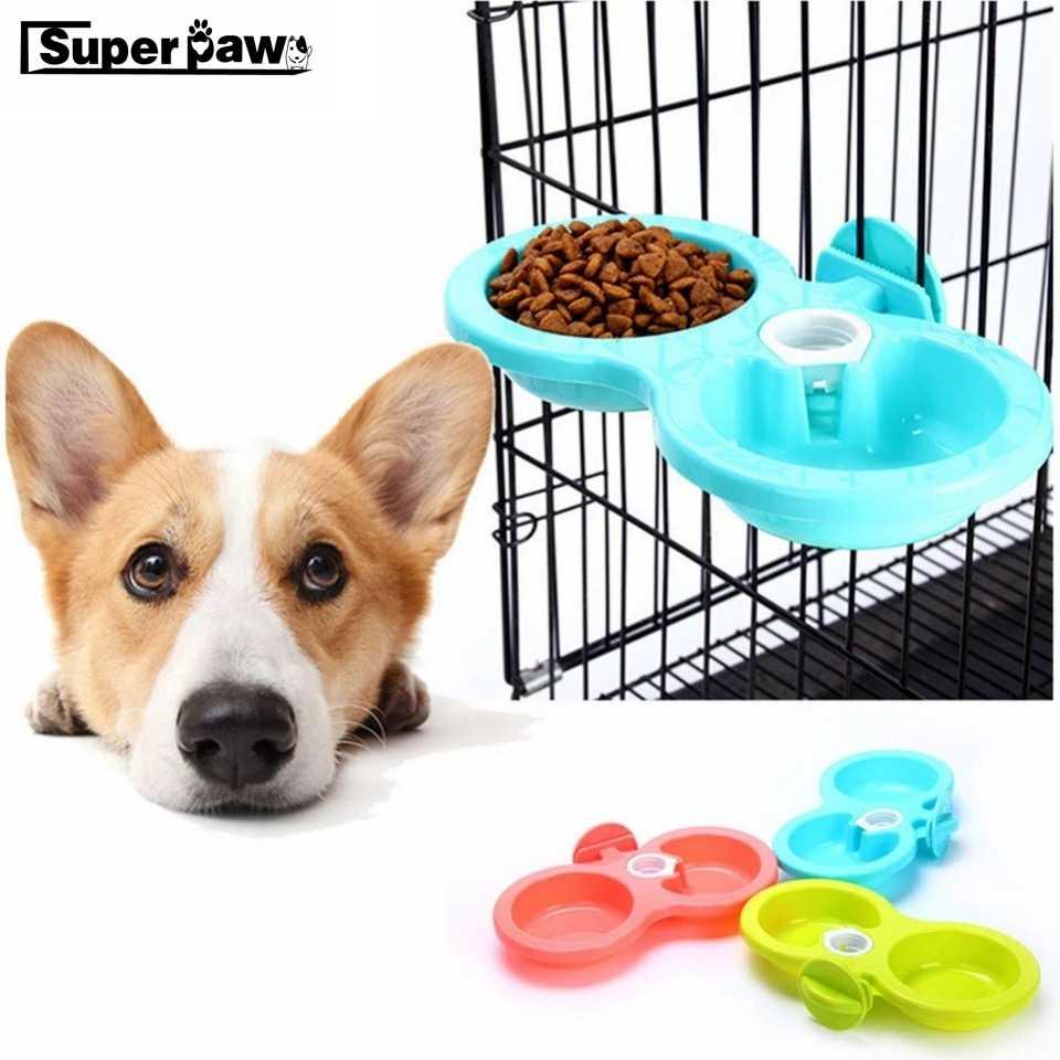 المزدوج استخدام الكلاب مزدوجة عاء مياه الشرب التلقائي وحدة تلقيم طعام ل جرو الكلب القط قفص الحيوانات الأليفة شنقا السلطانيات S/L 3 الألوان LCD08