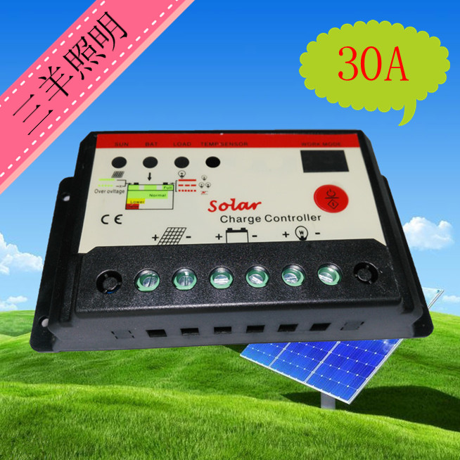 Solar controller 12V/24V 30A universal street lamp controller solar panel dual digital tube dmx512 digital display 24ch dmx address controller dc5v 24v each ch max 3a 8 groups rgb controller