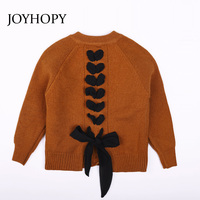 JOYHOPY Girls Coats And Jackets Kids 2018 Spring Autumn Brand Children For Girls Clothes Knitted Outerwear