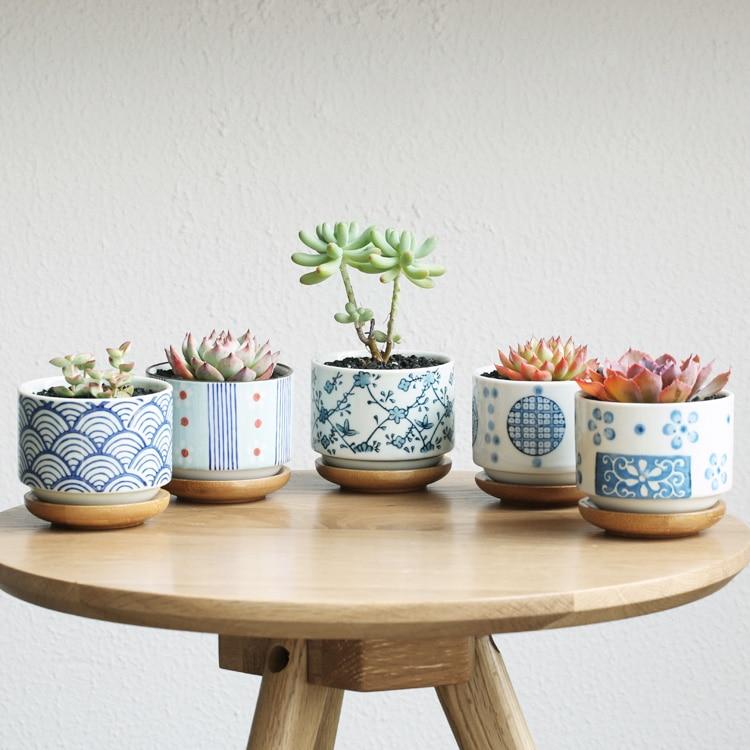 Garden Supplies Garden Flower Pots Planters Bamboo Pot