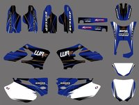 0497 NEW TEAM GRAPHICS BACKGROUNDS DECALS For Yamaha WR250F WR450F WRF250 WRF450 2005 2006 WR 250F 450F WRF 250 450