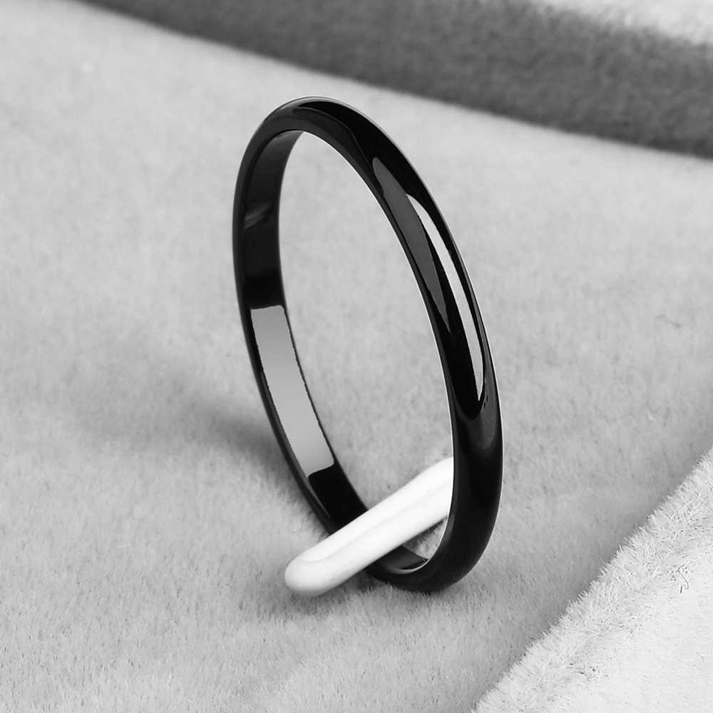 KNOCK TITANIUM STEEL Rose Gold Anti-allergy Smooth งานแต่งงานแหวนคู่ Bijouterie สำหรับชายหรือหญิงของขวัญ