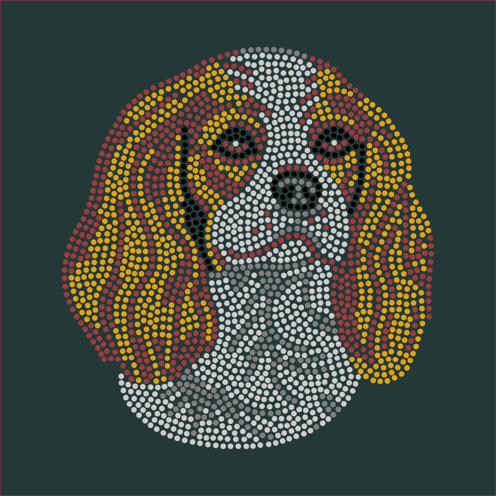 Cavalier King Charles Spaniel Dog hot fix crystal transfer for T shirt wholesale price