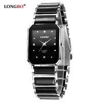 LONGBO Brand Men Women Casual Unique Ceramic Ladies Quartz Wrist Watches Luxury Brand Quartz Watch Relogio