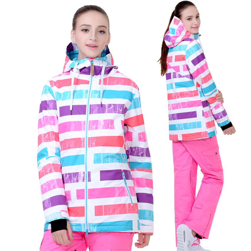 Gsou Nieve chaqueta de esquí impermeable transpirable gruesa cálido invierno al