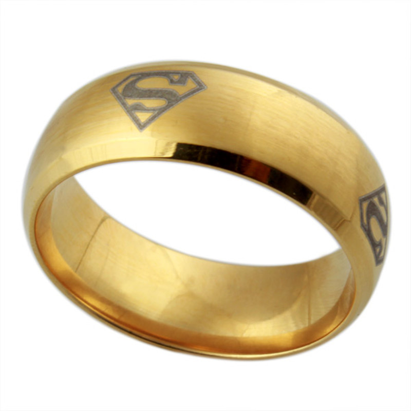 Free Shipping top quality super style men s new gold ring models