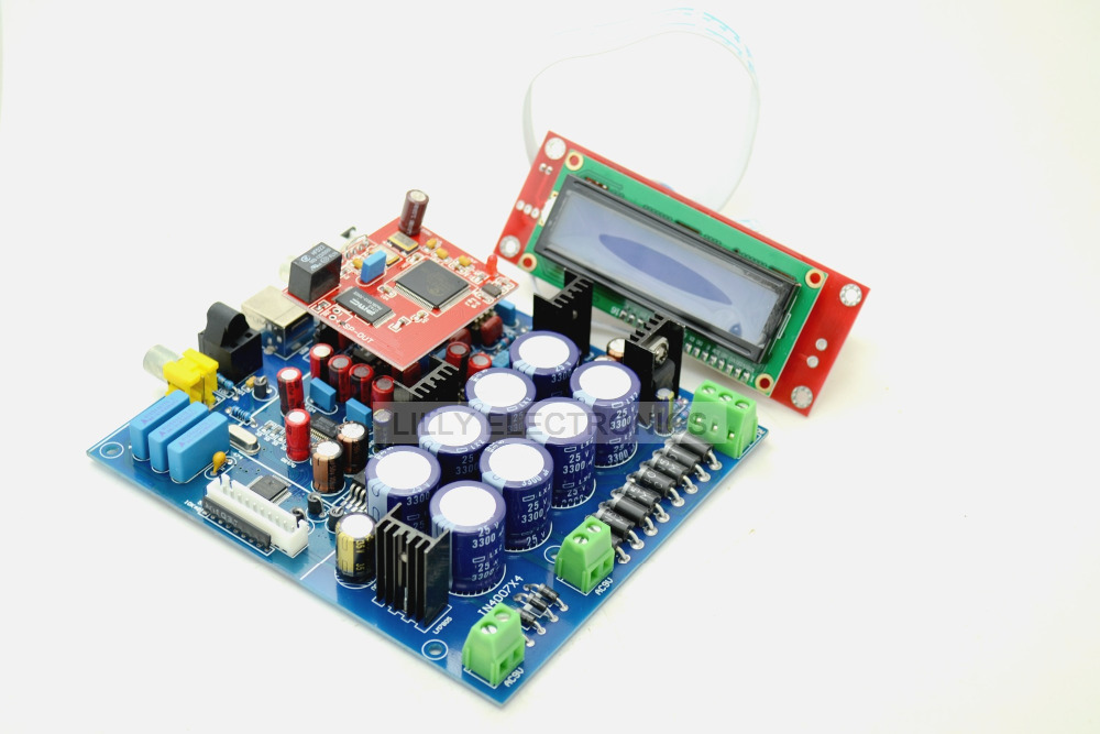 PCM1794 + AK4118 DAC Decoding Soft Control Board With 6631 USB Sub Card hot sale dac board optical fiber coaxial usb dac decoding amp board