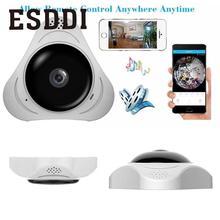 Esddi Новый Настоящее 360 градусов рыбий глаз панорама безопасности IP VR 360 видео Камера Поддержка Ночное видение Профессиональный Домашний HD Cam подарок