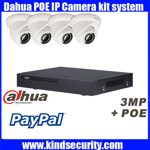 Dahua 4CH CCTV Security System 4CH 1080P NVR4108H 8P 3MP outdoor Camera Video Surveillance System 4pcs