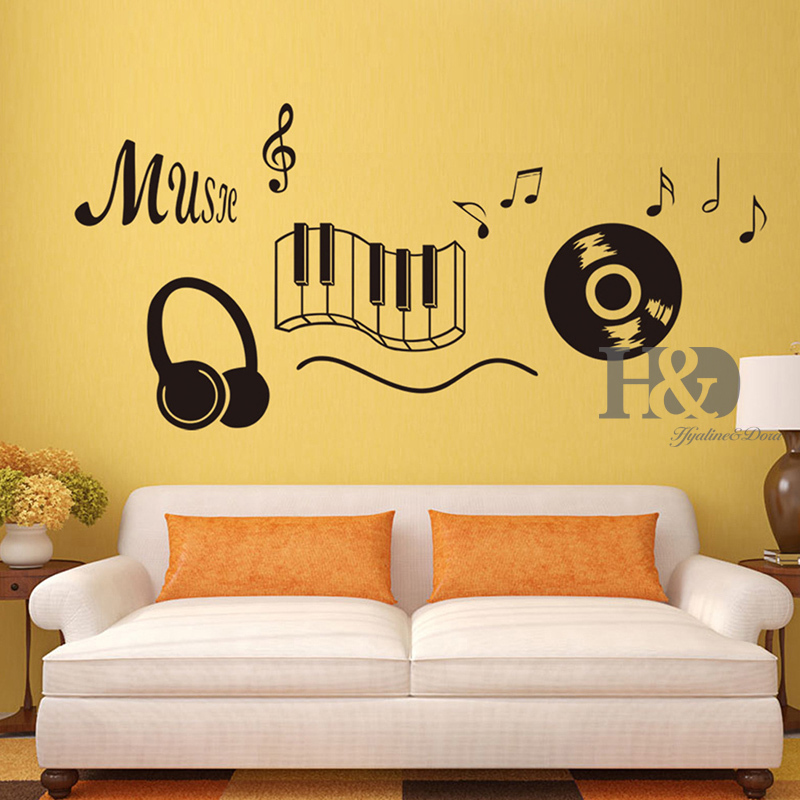 music design art decals mural wallpaper wall stickers removable