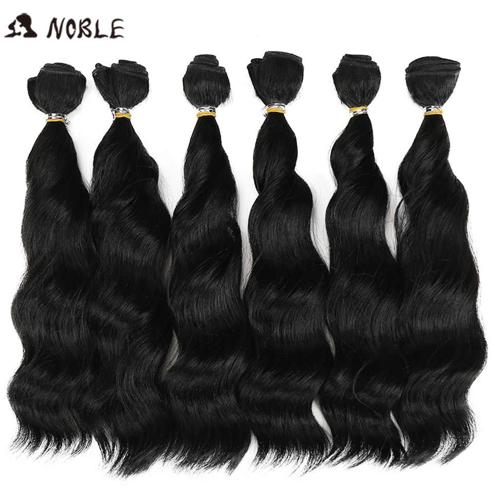 Noble Synthetic Hair Ombre Hair Bundles 12 inch Weav Hair For Black Women Loose Wave Synthetic Hair Bundlestissage Synthetic