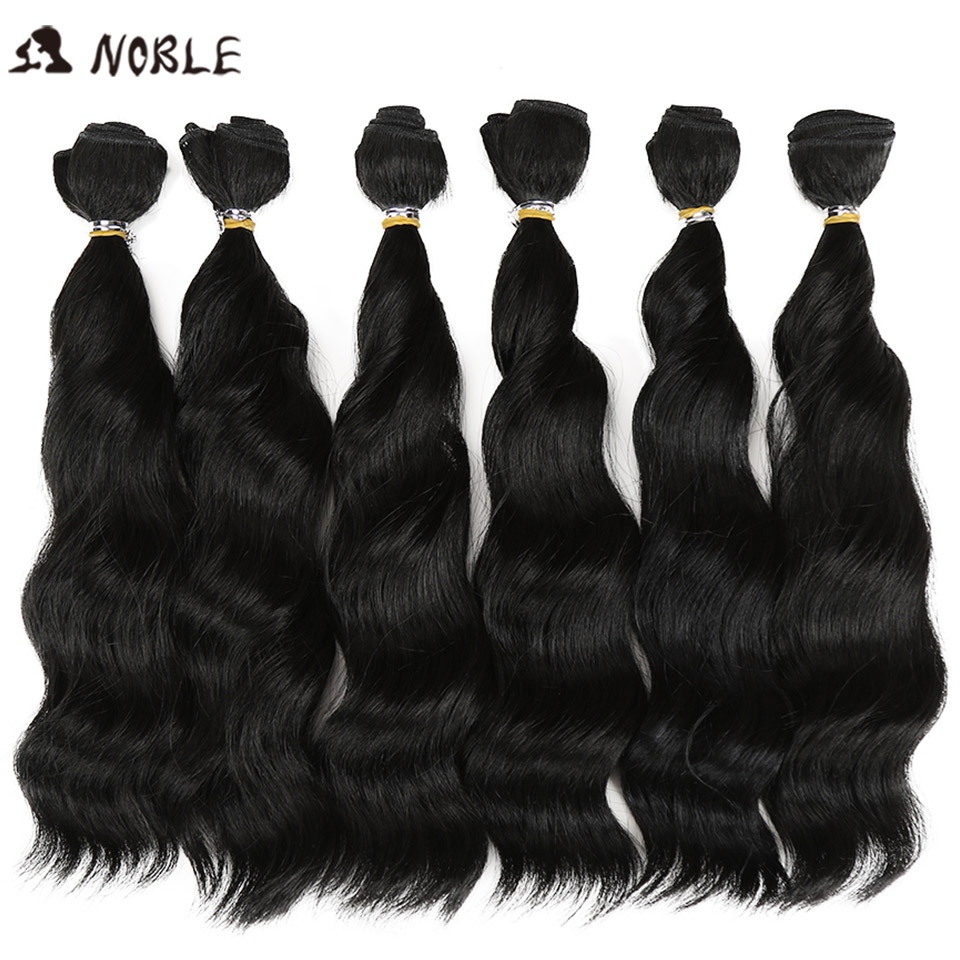 Noble Hair-Bundles Weav-Hair Wave Synthetic Ombre Women 12inch for Black Loose title=
