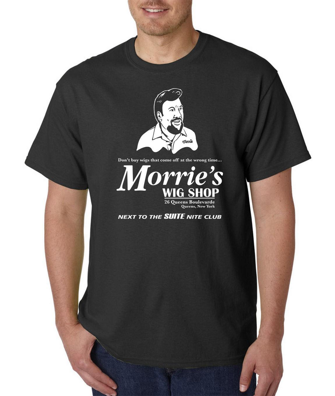 Morries Wig Shop T-Shirt - GOODFELLAS The Godfather Scarface Casino Funny Mafia Mens 100% Cotton Plus Size T Shirt