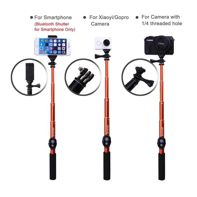 """Prix pour Smartall Auto Kits: D'obturation Bluetooth Caméra + 39 """"Gopro Monopode Selfie Bâton Pour Samsung S7 Edge NOTE S6 C5 Neo S4/Pour LG G4 G3 G2"""