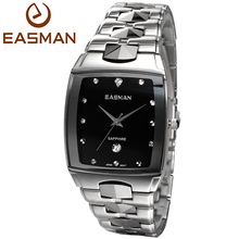 EASMAN Mens Luxry Hardest Tungsten Steel Sapphire Glass Watches Japan VX12 Quartz Date Calendar Best Gift Watch for Men