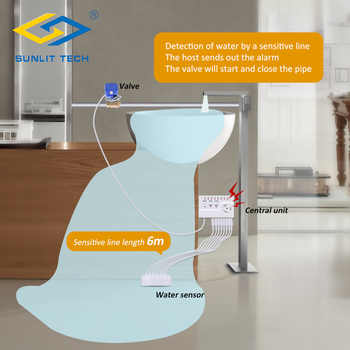 Home Smart Water Leak Detector 100dB Water Alarm Leakage Sensor Flood Alter Overflow Detection Water Leak For Household Security