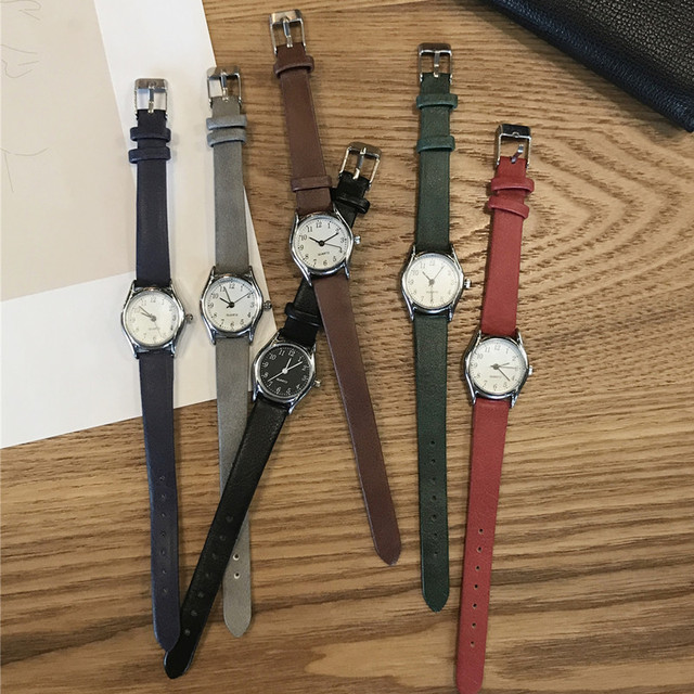 Small dial brief style women watches Korean version casual quartz woman clock BGG brand ladies retro wristwatches leather band