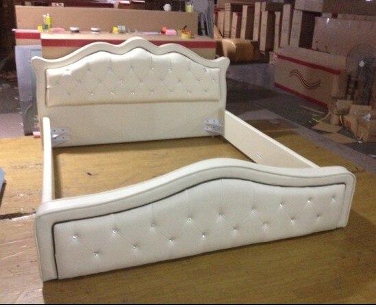 Diseño moderno cuero genuino suave cama/cama doble rey/tamaño queen ...