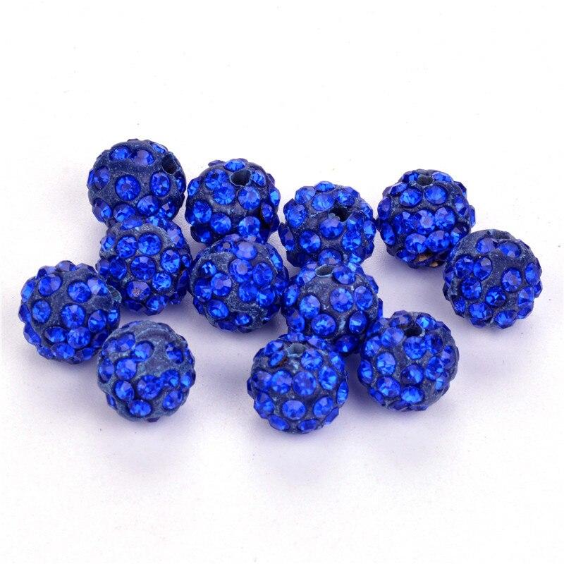 Jewelry & Accessories Loyal 50pcs 10mm Shamballa Beads Crystal Disco Ball Beads Shambhala Spacer Beads,shamballa Bracelet Crystal Clay Beads 33color Luxuriant In Design