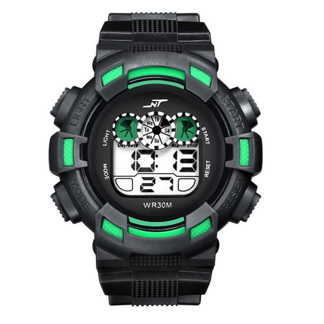 HONHX Sports LED Digital Watch For Boys Girls Mutlifunction Date Alarm Rubber Sp