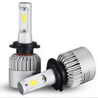 Castaleca Super Bright 1 Pair COB Chips H7 LED Headlight Kits Bulbs Auto Fog Lamps Cooling