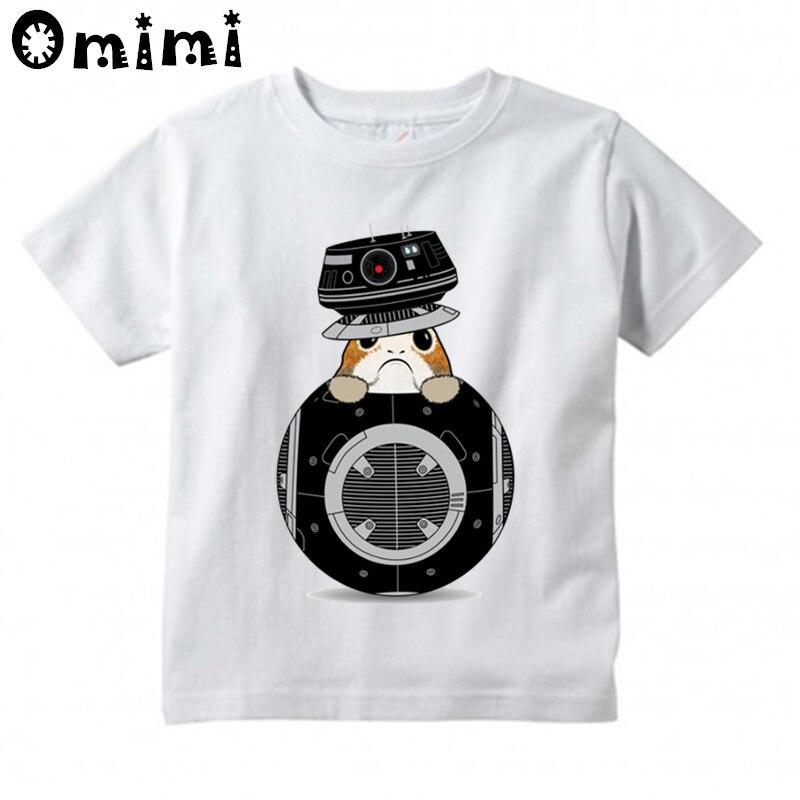 Детские забавные карман закупочная организация Дизайн футболка детей войны звезды Мультфильм Топы для мальчиков/Милая футболка для девоче...