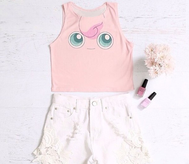 68fbd0eeb32750 Jigglypuff Squirtle Pikachu Crop Tank Tops Cosplay Pokemon Go Sport Running  Vests Camisole Sexy Women Bustier Summer Beach Wear-in Running Vests from  Sports ...