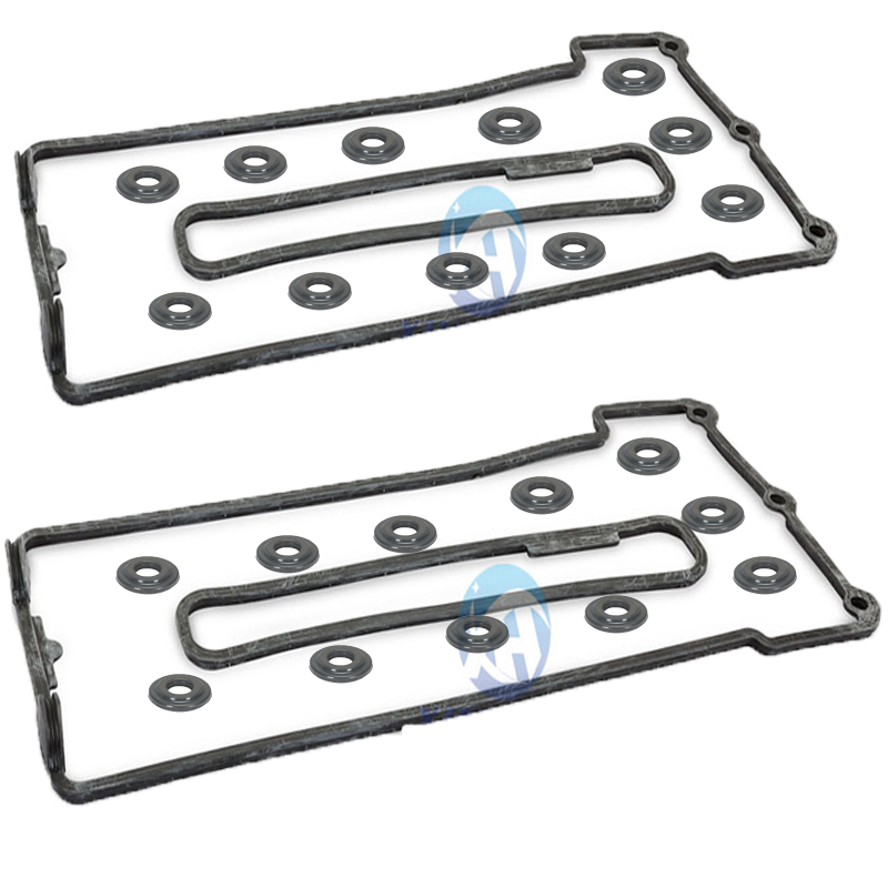NEW Bonnet gasket sleeve L+R 22 washers For BMW E34 E39 E32 E38 M60 M62 Engine  11129069872 11129069871 11121437395