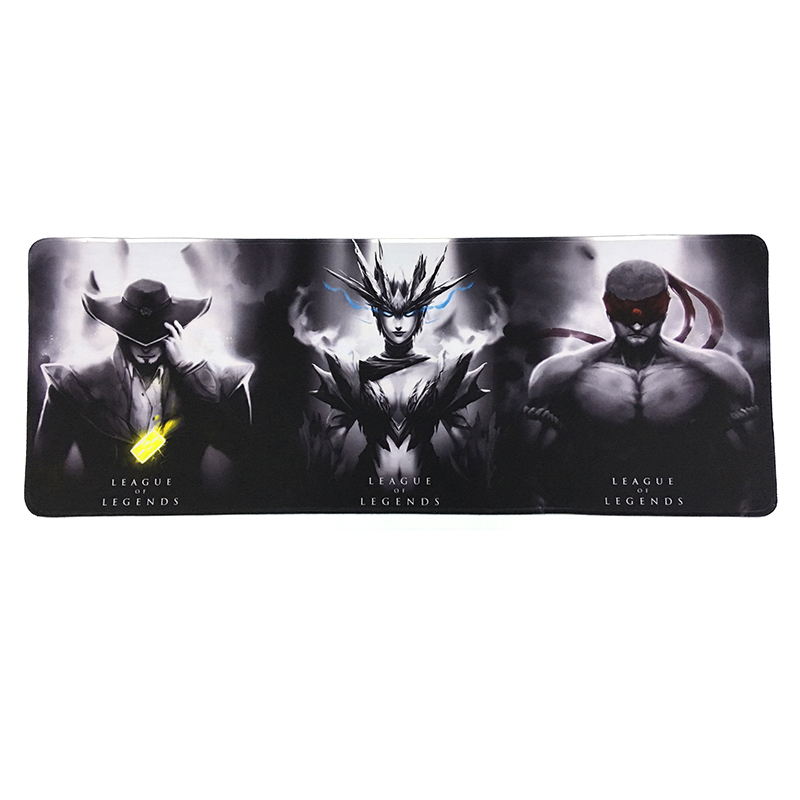Overlock large gaming mouse pad for League of legends LOL 800*300 XL game mousepad League of legend teemo yasuo