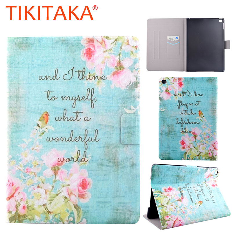 Fashion Floral Print Pattern Leather Flip for ipad air 2 Case Multifunction Stand Wallet Cover Protector For ipad 6 9.7 Shell