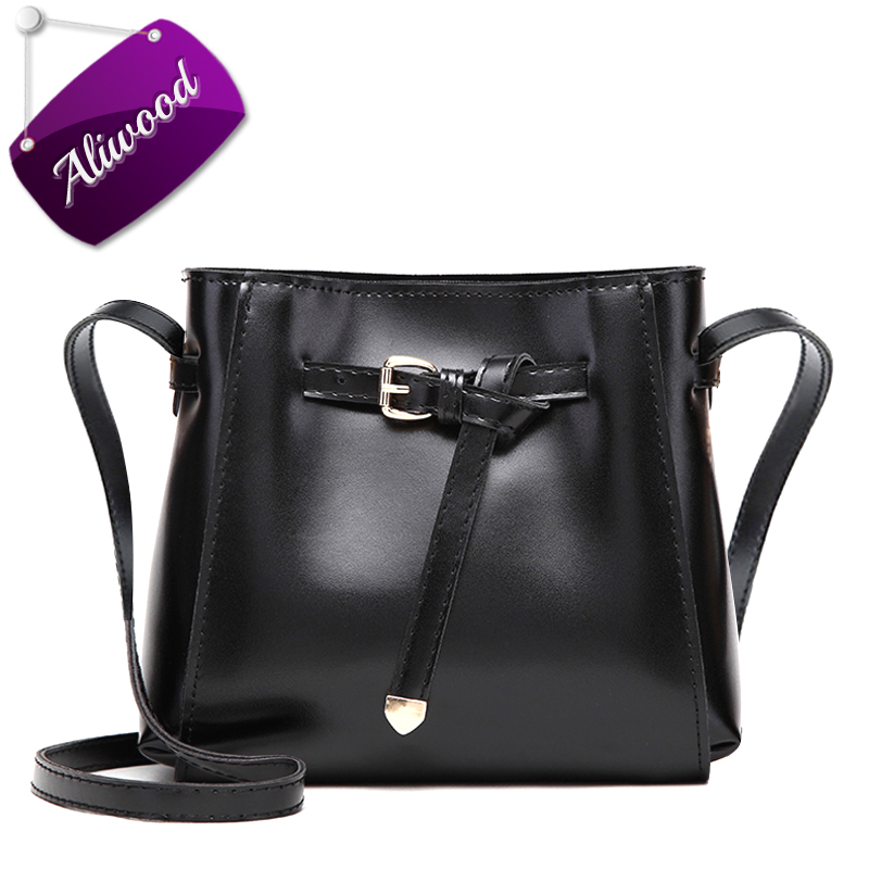 2017 Women's Handbags Vintage Messenger Bag Mini Bow Tie Bucket Shoulder Bags Pu Leather Females Crossbody Bags Bolsas Feminina