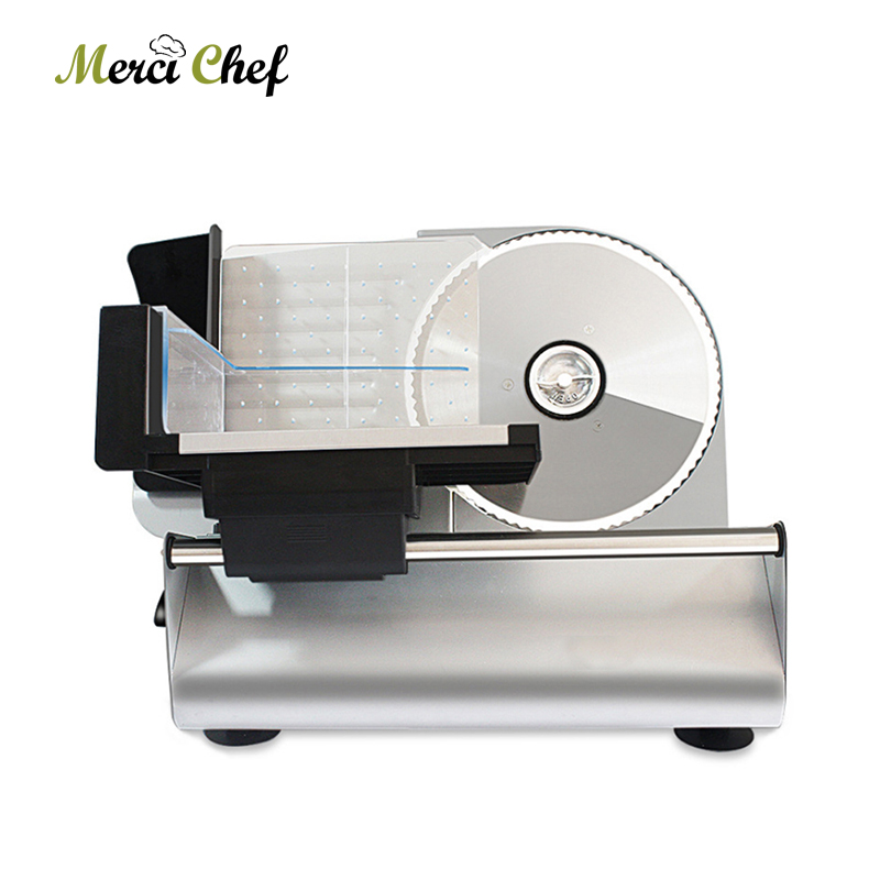 ITOP 200W Electric Slicer Beef Lamb Cutting Machine Food Meat Slicer Vegetable Bread Cutter 0-22mm Cutting Thickness Automatic