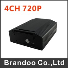 Inexpensive 4G mobile DVR, 4 channel 720P BUS DVR, 2TB HDD MEMORY, alarm I/O, model BD-307