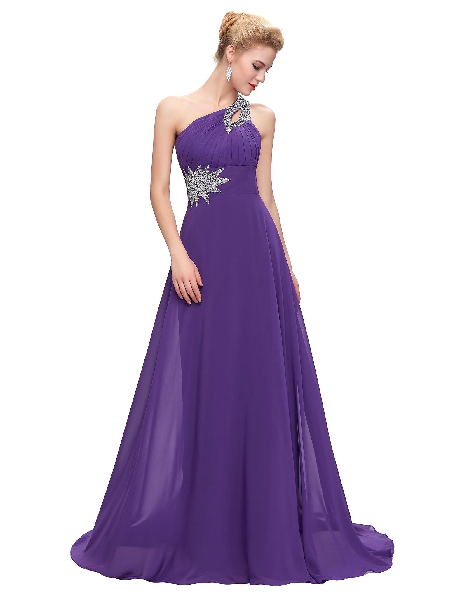 Grace karin un hombro rojo azul royal purple coral una línea baratos ...