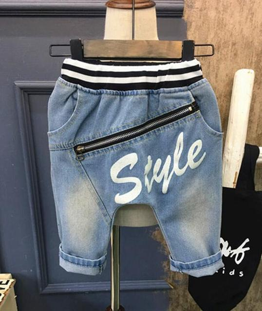 0cd694af4dca new hot sale boys shorts fashion summer kids children denim jeans boys  Personality baggy pants 2-7years