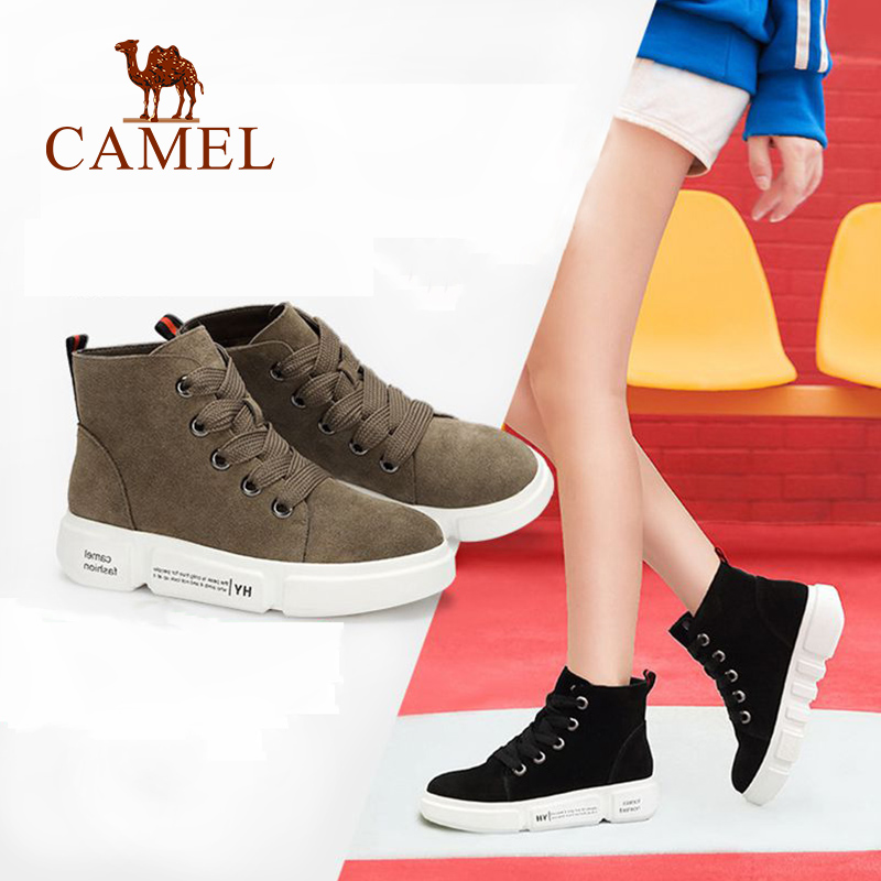 CAMEL Boots Shoes Winter 2018 New Flat Fashion Casual Boots Women Shoes Comfortable Cowhide Skin-Friendly Shoe For Ladies camel winter women boots 2015 new shoes retro elegance sheepskin fashion casual ladies boots warm women s boots a53827612