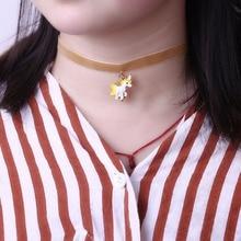 Girls' Unicorn Choker Necklace