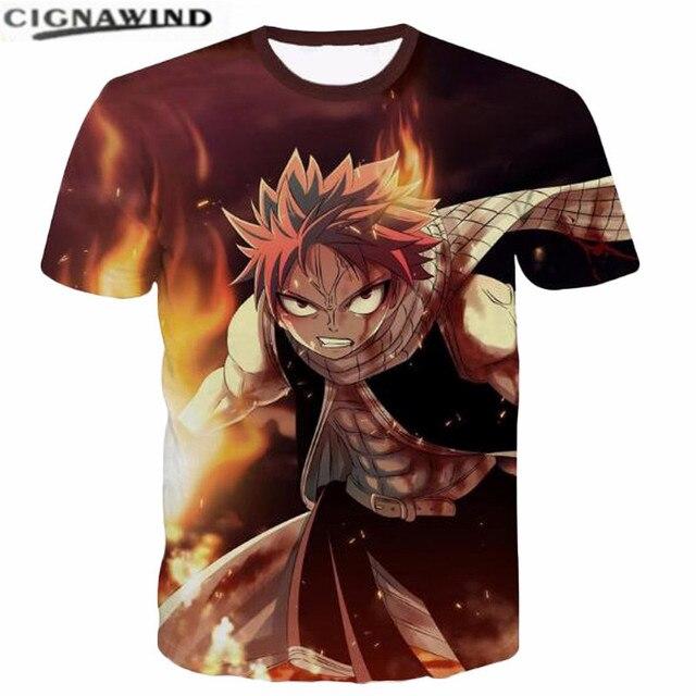 New fashion Hip hop 3D t shirt Men Women T-shirt Printed Natsu Dragneel  Characters funny t shirts Unisex tshirt streetwear tops 8429bda91