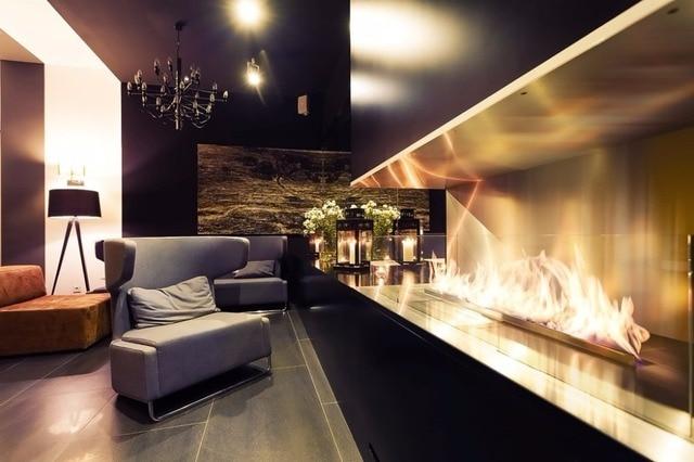 Auf Verkauf 48 Zoll Gebaut In Fernbedienung Luxus Haus Bioethanol Kamin