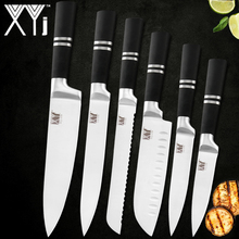 hot deal buy xyj kitchen stainless steel knives accessories paring utility santoku chef slicing bread stainless steel knives new arrival 2019
