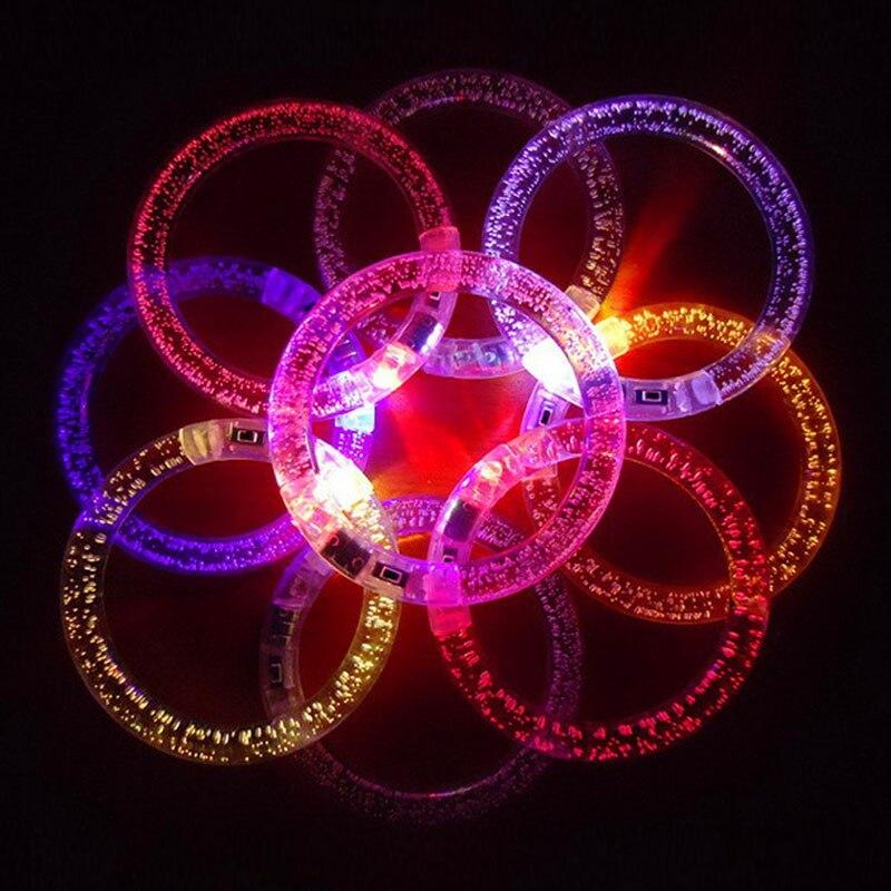 FANLUS Colorful LED Flash Bracelet Multicolor Bracelet Parties Weddings Birthdays Bracelet (6 bright colors)