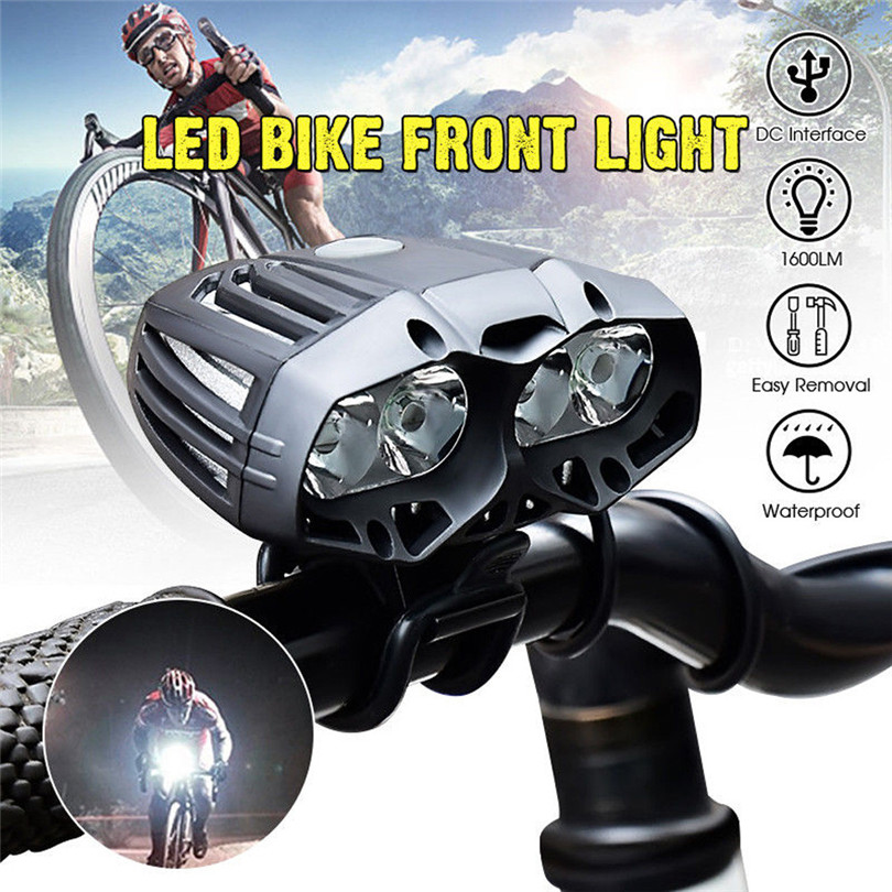 Micro USB charging bicycle front light 4x XML T6 LED Bike Bicycle Cycling Headlamp 4 Mode A30