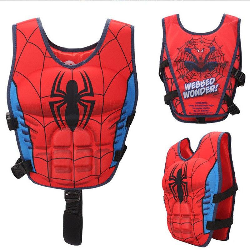 Детская Спасательная куртка; плавающий жилет для мальчиков; Безопасный Жилет для плавучести; костюм для плавания с изображением Мстителей ...