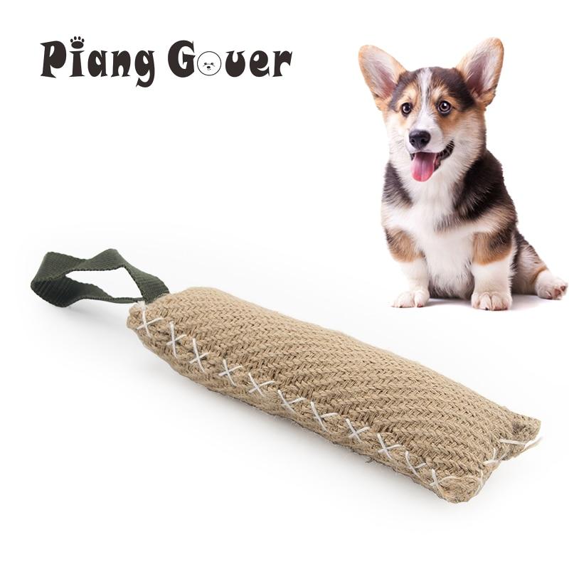 Indestructible Dog Tug Toy: Durable Small Dog Training Bite Tug Toy Beige Chew Dog