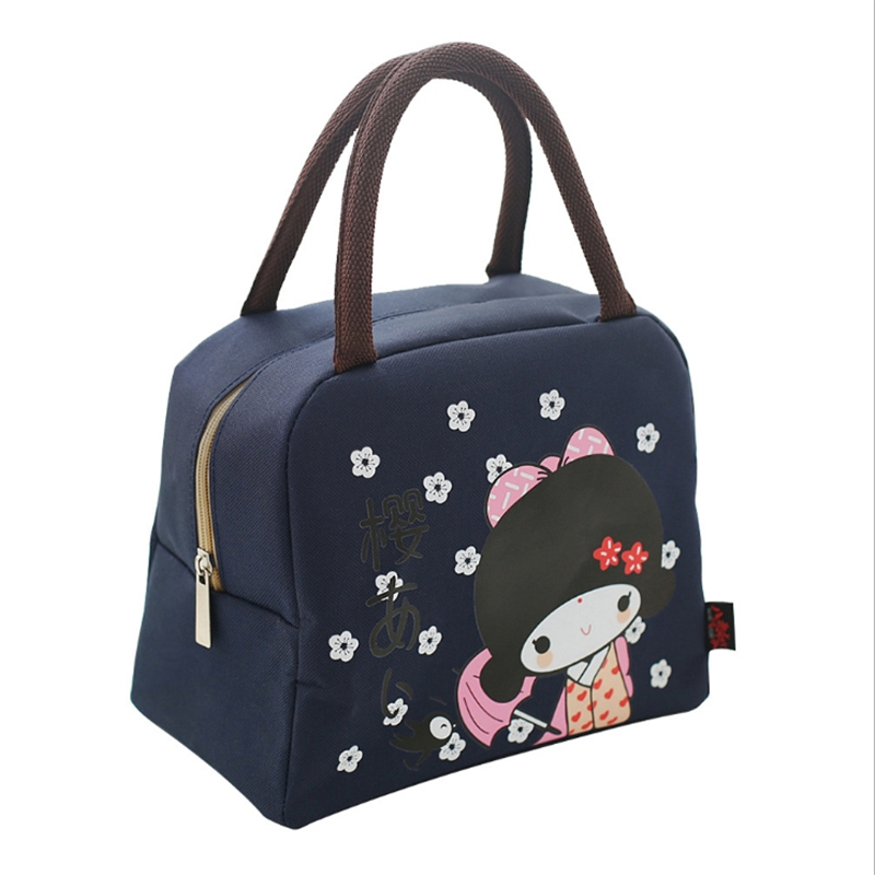 New Cartoon Lunch Bag For Kids Oxford Cloth Portable Insulated Tote School Food Storage Container Box Tote Cooler Picnic Bag