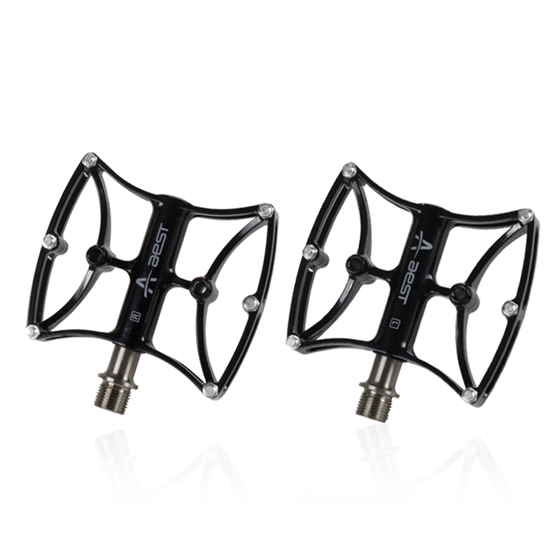 AEST mtb Bike Pedals Ultralight bmx Bearing Titanium axis Pedal 9 16 Spindle Bicycle pedals Platform