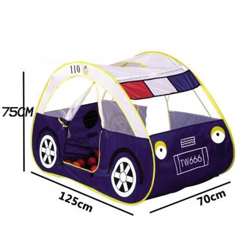 car tent children kid ball pit pool game play tent police outdoor kids hut pool play