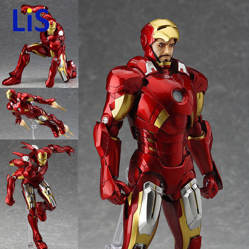 2018 NEW Figma MAX EX-018 The Avengers Ironman 15cm Marvels Iron Man Action Figure Model Toys Brinquedos Anime kids Toys