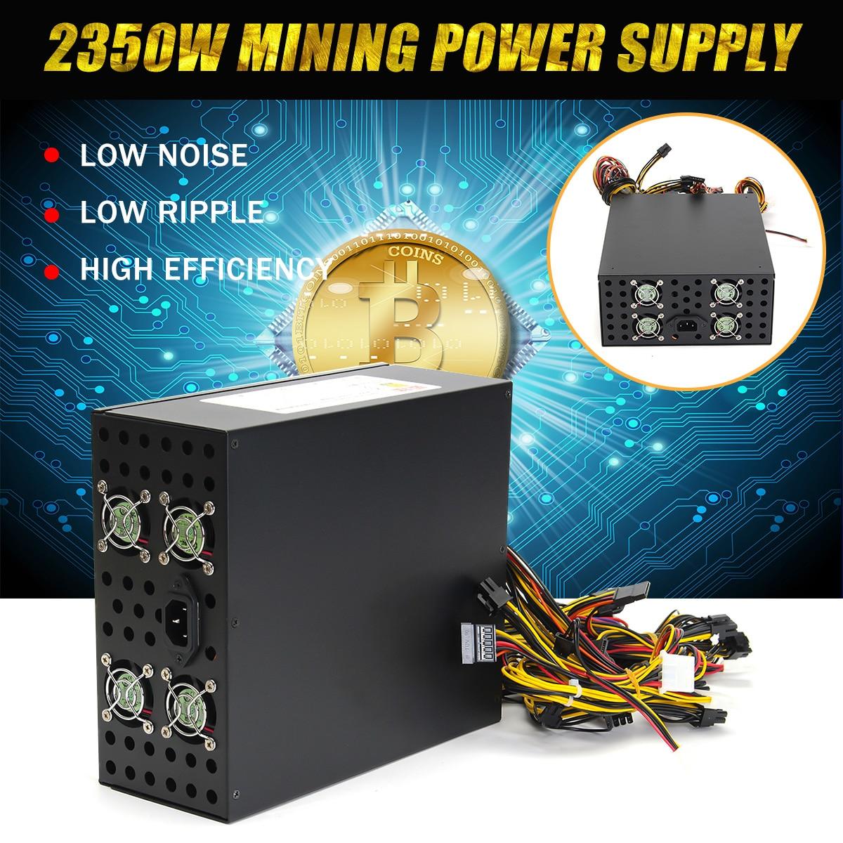 2350 w di Potenza di Alimentazione Per Eth Rig per Ethereum Moneta Macchina di Estrazione Mineraria Minatore Dedicato 8 GPU della Scheda grafica di Alimentazione Forniture