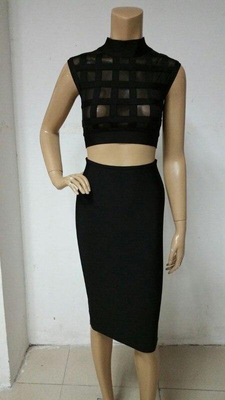 Alta calidad más nueva negro alto cuello malla dos mujeres vestido 2015 al  por mayor 77becf1aadfc